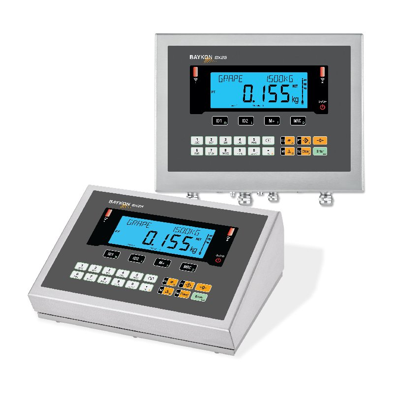 Baykon BX25 / BX25D Weighing Indicator, weighing,  scale, check weighing, filling controller, labelling