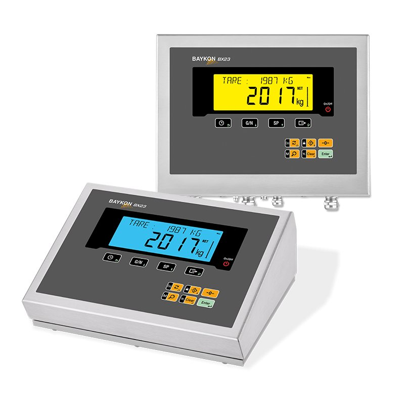 Baykon BX23 / BX23D Weighing Indicator, weighing,  scale, check weighing, filling controller, labelling