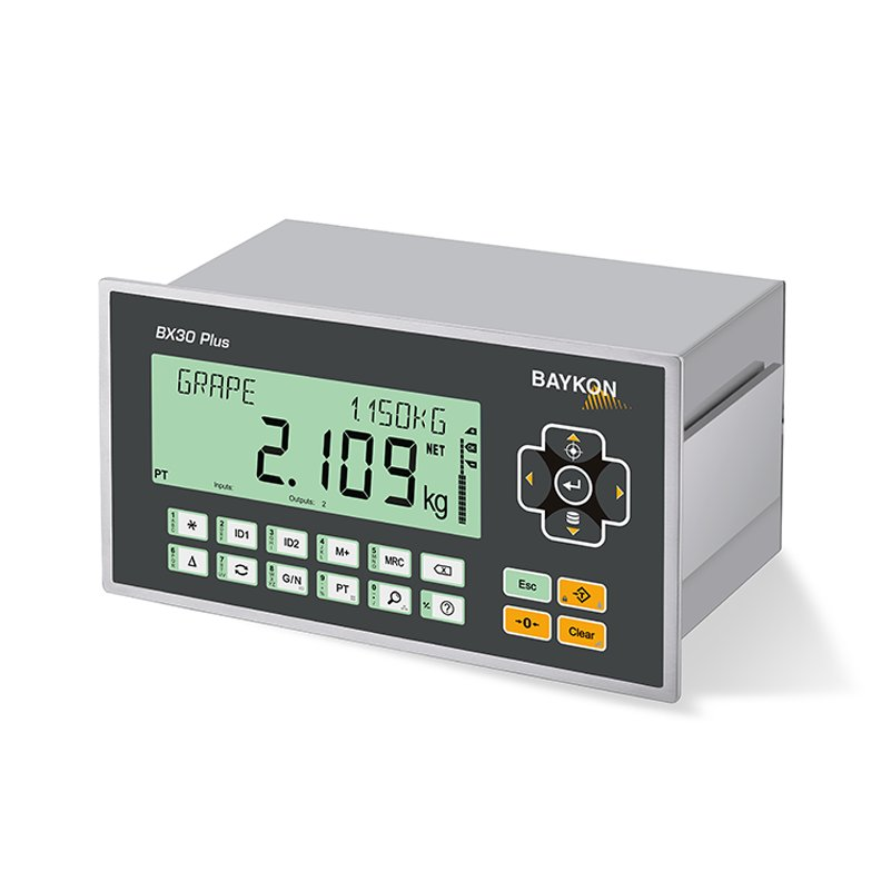 Baykon BX30 Plus / BX30D Plus Weighing Indicator, weighing, scale, check weighing, filling controller, labelling